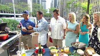 Brian Kilmeade's 'phone-a-friend' grilled striped bass and angry clams