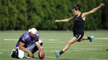 Carli Lloyd kicks 55-yard field goal, Hall of Famer says NFL should give her 'honest' tryout