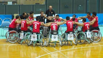 Pro athletes unite bring wheelchair basketball to people trapped in war
