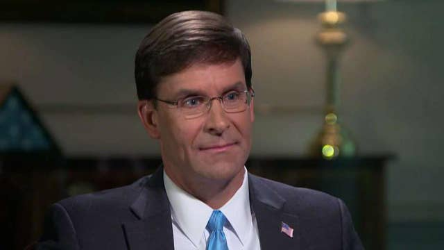 Mark Esper discusses loss of US drone over Yemen, threats posed by Iran, China, Russia