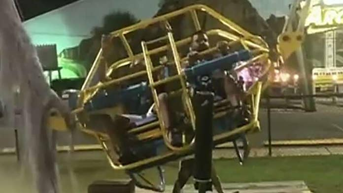 Florida slingshot ride cable snaps just moments before riders were to be launched in air, video shows