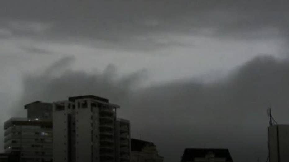 Wildfires in the Amazon region darkened the skies in Sao Paulo