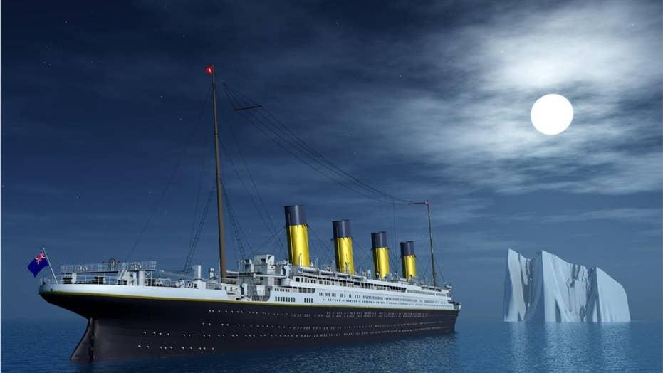 Titanic Hitting The Iceberg Video