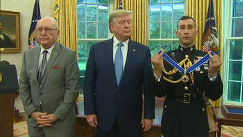 President Trump presents the Presidential Medal of Freedom to Robert Cousy