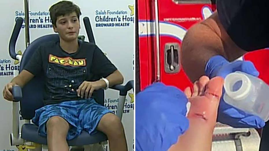 11-year-old bit by shark on Florida beach