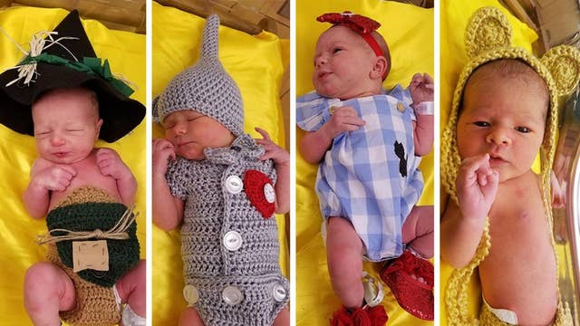 Pittsburgh hospital newborns dressed up as 'Wizard of Oz' characters
