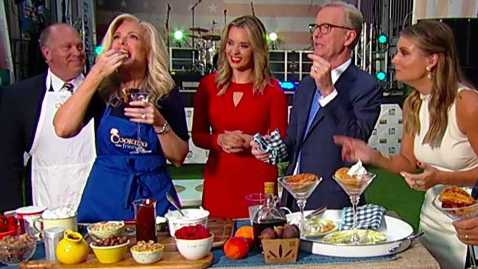 Janice Dean's grilled doughnuts