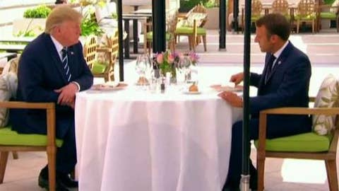 Trump meets with French President Macron