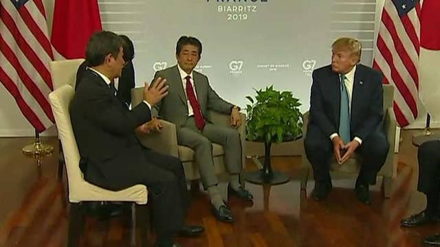 President Trump announces the US has reached a new trade deal with Japan