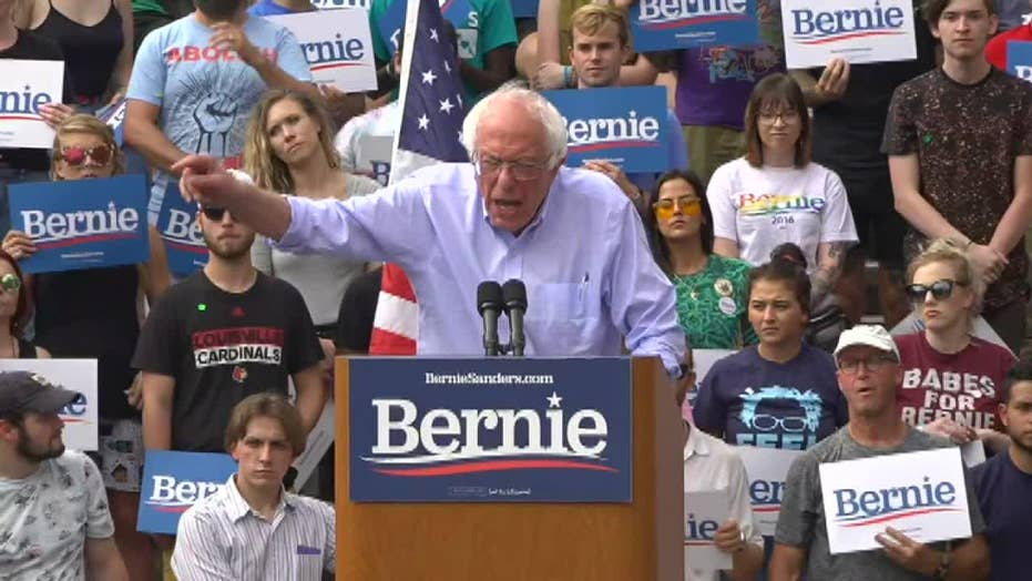 Sanders slams McConnell's 'cowardice' on gun issues at Louisville rally
