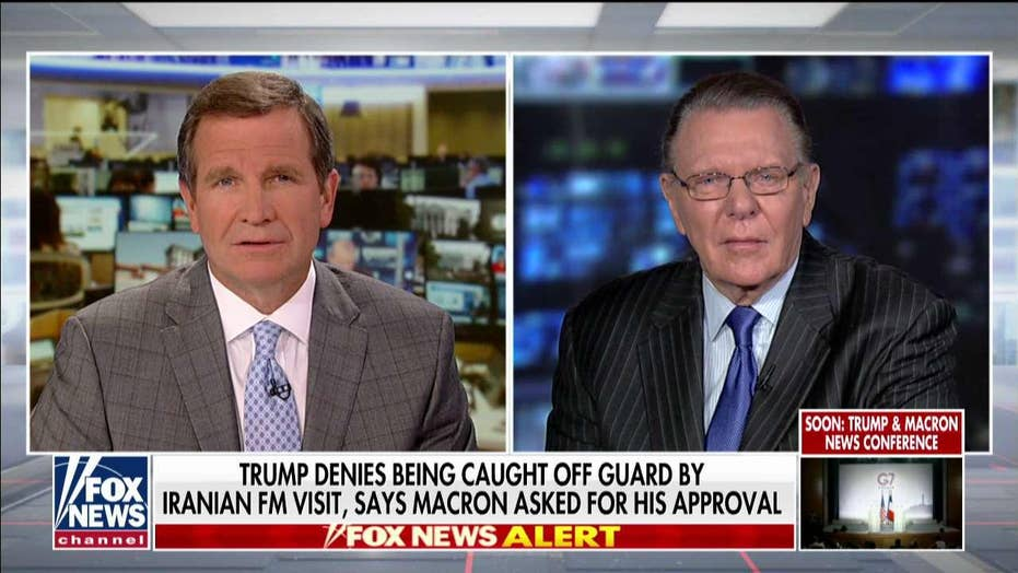 Gen. Keane: It was 'small' for Macron to invite Iran's foreign minister to G-7 summit