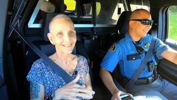 Terminally ill nurse gets bucket list wish: a ride-along in a cop car