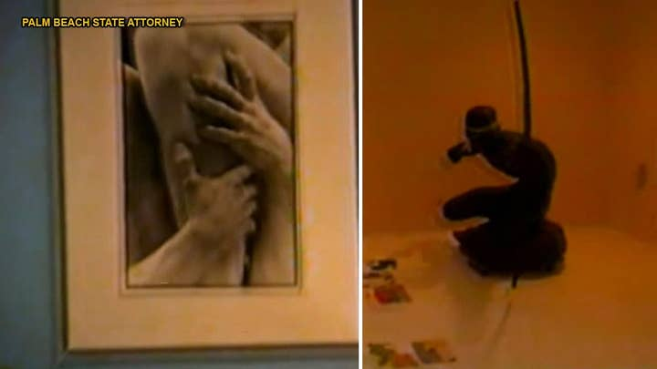 WATCH: Jeffrey Epstein's eccentric and explicit art collection in Palm Beach mansion revealed in police video