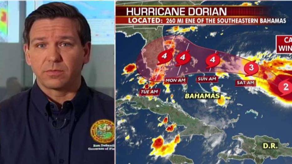 Florida Gov. DeSantis implores residents to listen to local officials as Dorian approaches