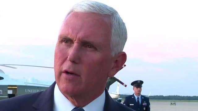 Pence comments on the deadly Texas shooting, Hurricane Dorian