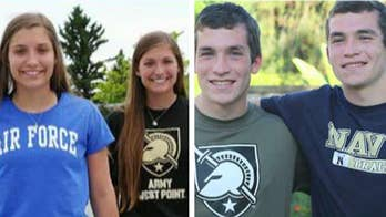 2 sets of twins separate to go to different military academies