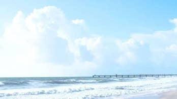 Jacksonville, Florida experiencing large surf ahead of Hurricane Dorian