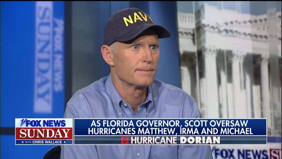 Rick Scott weighs in on effects of climate change on hurricane strength ahead of Dorian landfall