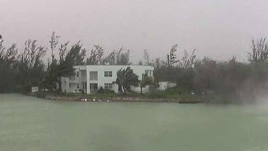 Woman riding out Hurricane Dorian says most areas of Grand Bahama are under water