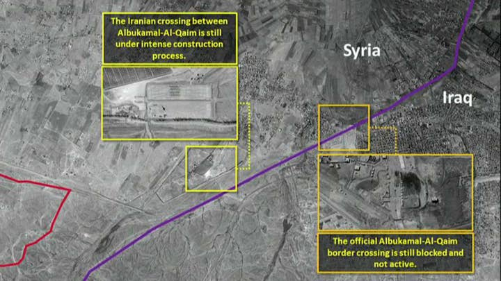 Satellite images show Iranian base construction on border between Syria and Iraq