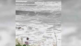 Man rescues boy in Atlantic Ocean