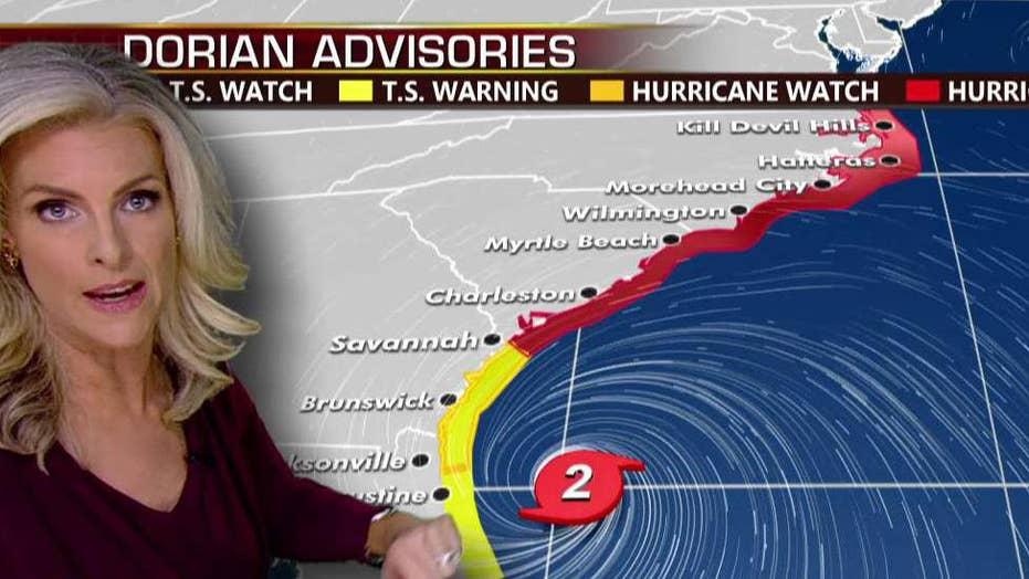 Dorian forecast: Hurricane warnings extend into North Carolina