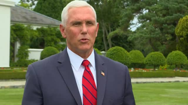 VP Pence speaks on his trip to Ireland and staying at Trump International