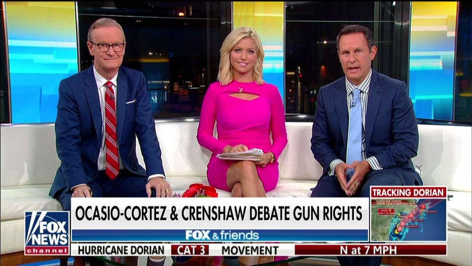 'Fox & Friends' takes on 'fact-challenged' AOC's gun rights feud with GOP Rep. Crenshaw