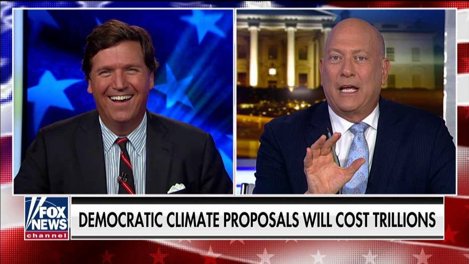 Tucker Carlson challenges climate change Democrat to 'prove' his claims