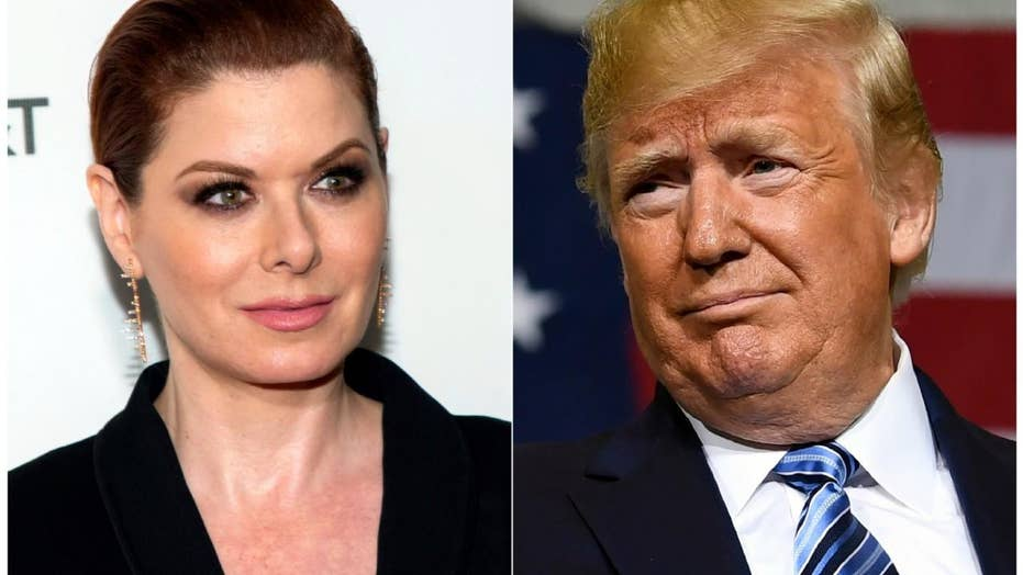 New chapter in war of words between President Trump and actress Debra Messing