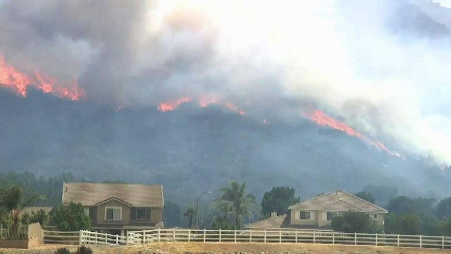 California wildfires lead to evacuations, school closures