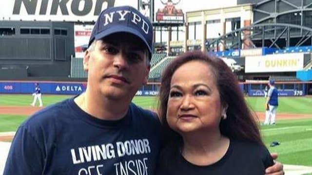 NYPD detective donates kidney to Marine vet's wife