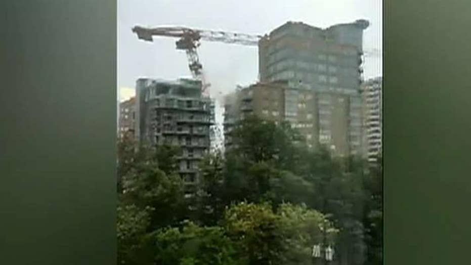 Dorian topples massive crane in Canada