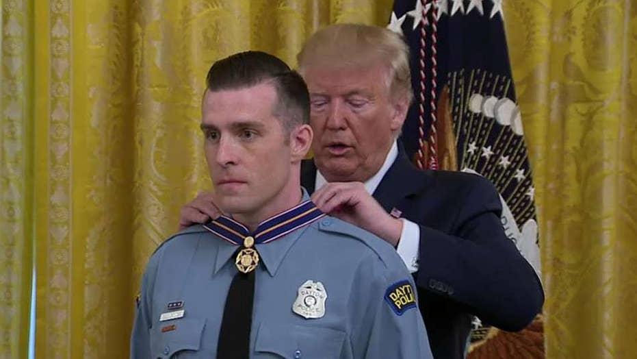 Trump awards Medal of Valor to Dayton police officers