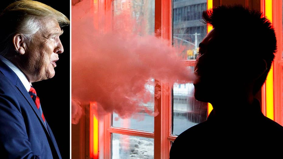 Trump considers banning all flavored e-cigarette products amid vaping health crisis
