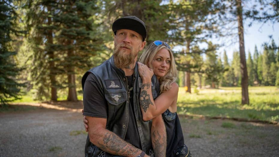 Couple weds in a biker-theme wedding just weeks after surviving motorcycle crash