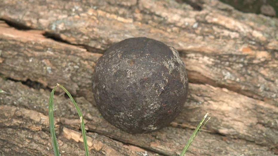 Civil War-era cannonball found in walnut tree in Missouri