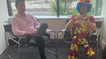Man brings emotional support clown to work