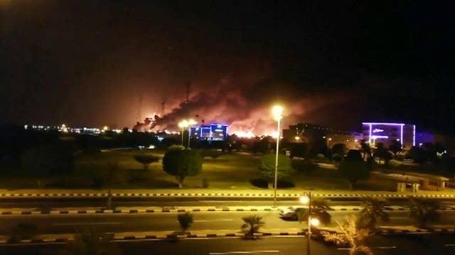 Drone strikes set Saudi Arabia oil facilities on fire