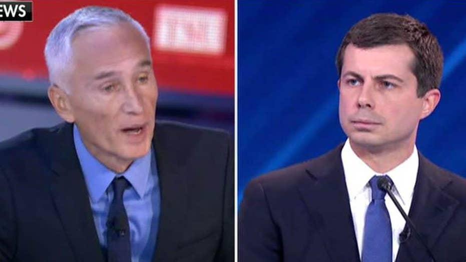 Joe Concha reacts to Jorge Ramos' questions at debate