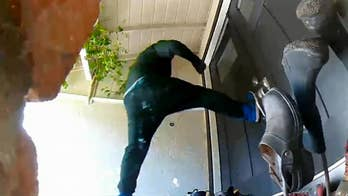 Watch: California homeowner scares off masked burglars