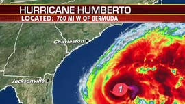 Humberto strengthens into hurricane, may bring heavy rain to Bermuda