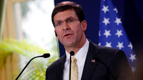 Defense Secretary Esper offers options in response to oil attack