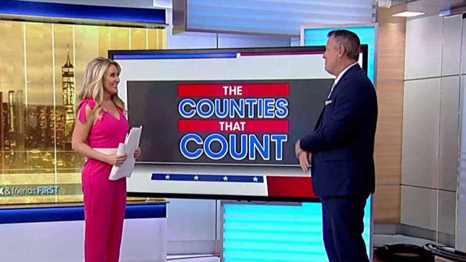 Breaking down the 10 counties that will decide the 2020 election