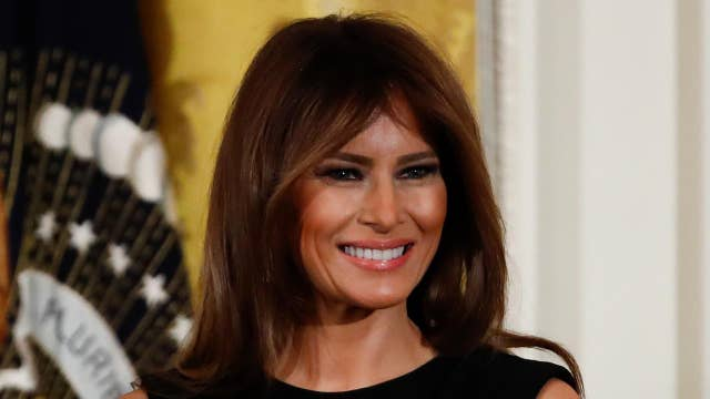 Melania Trump attends the re-opening ceremony of the Washington Monument