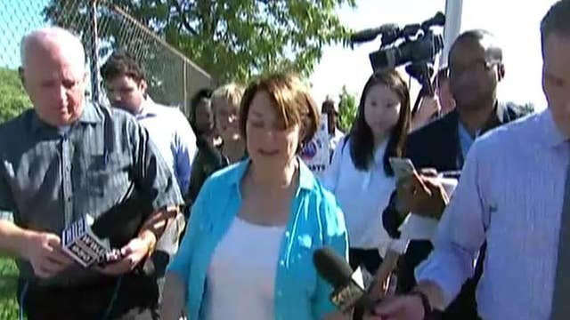 2020 hopeful Amy Klobuchar visits GM strikers