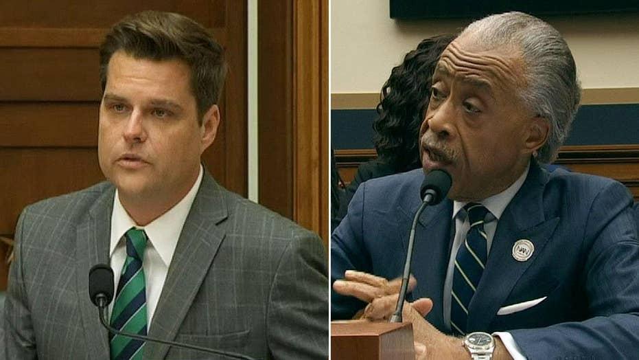 GOP Rep. Gaetz, Al Sharpton clash over anti-Semitism accusation at hearing