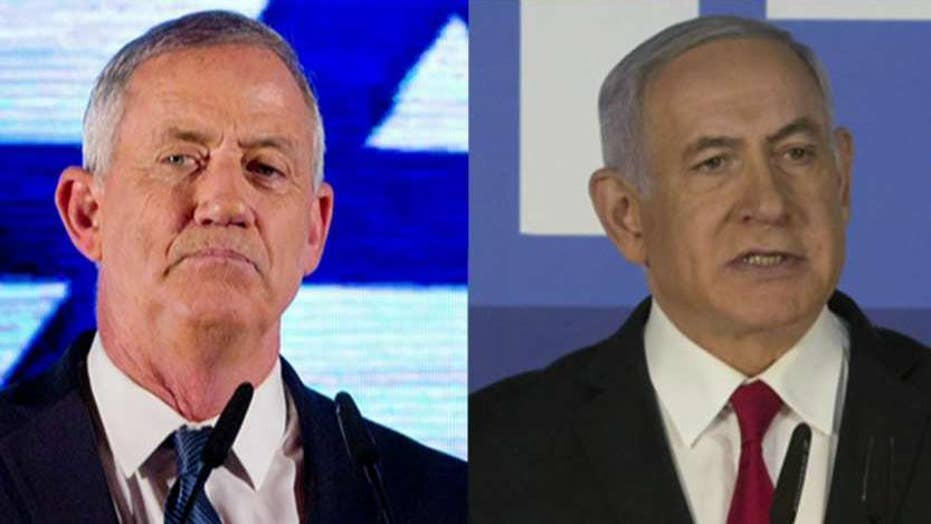 Israeli Prime Minister Benjamin Netanyahu and Benny Gantz attempt to break election deadlock