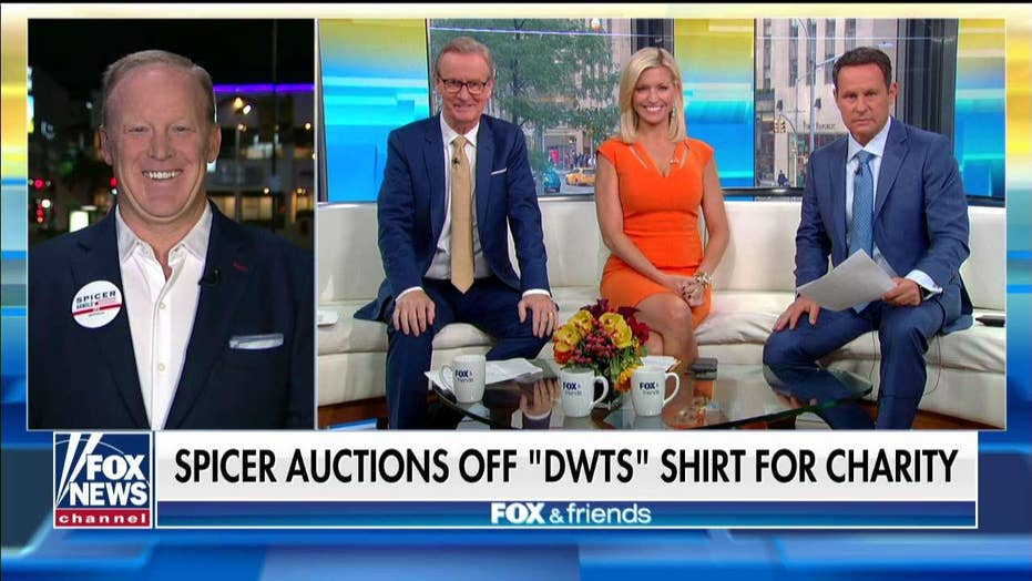 Sean Spicer auctioning famous 'Dancing With the Stars' shirt to benefit injured veterans