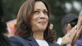 Democratic presidential candidate Kamala Harris trails in California